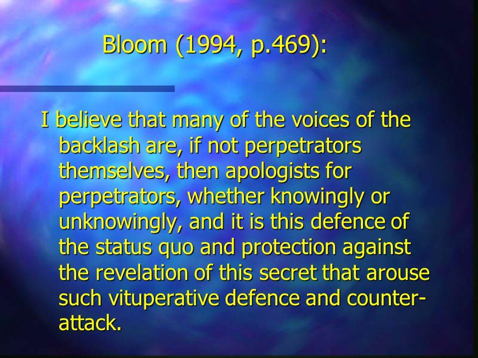 Bloom (1994, p.469):