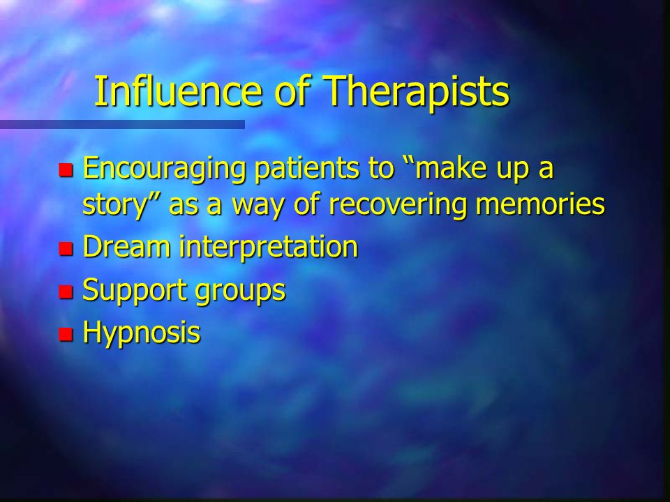 Influence of Therapists
