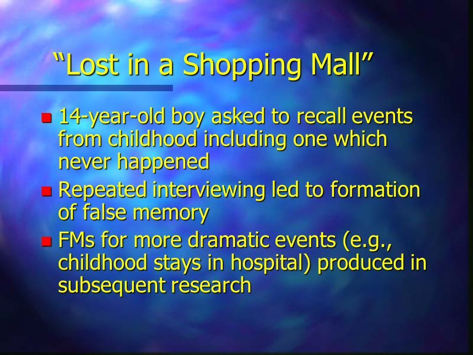 Lost in a Shopping Mall