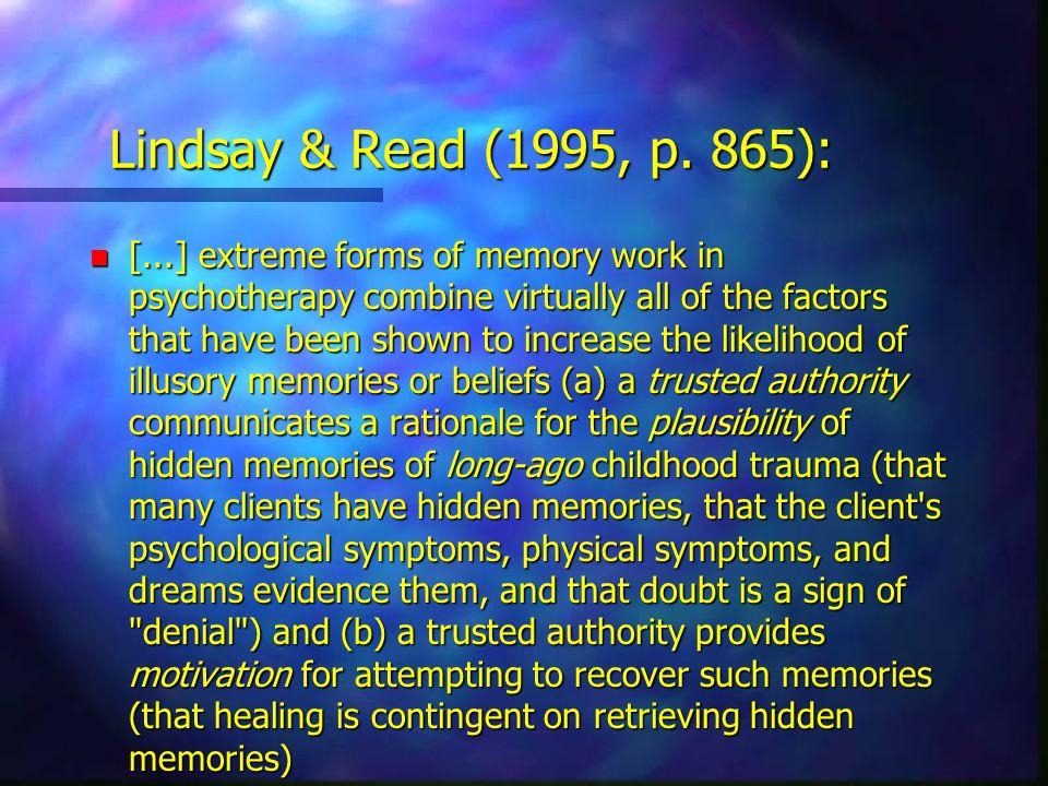 Lindsay & Read (1995, p. 865):