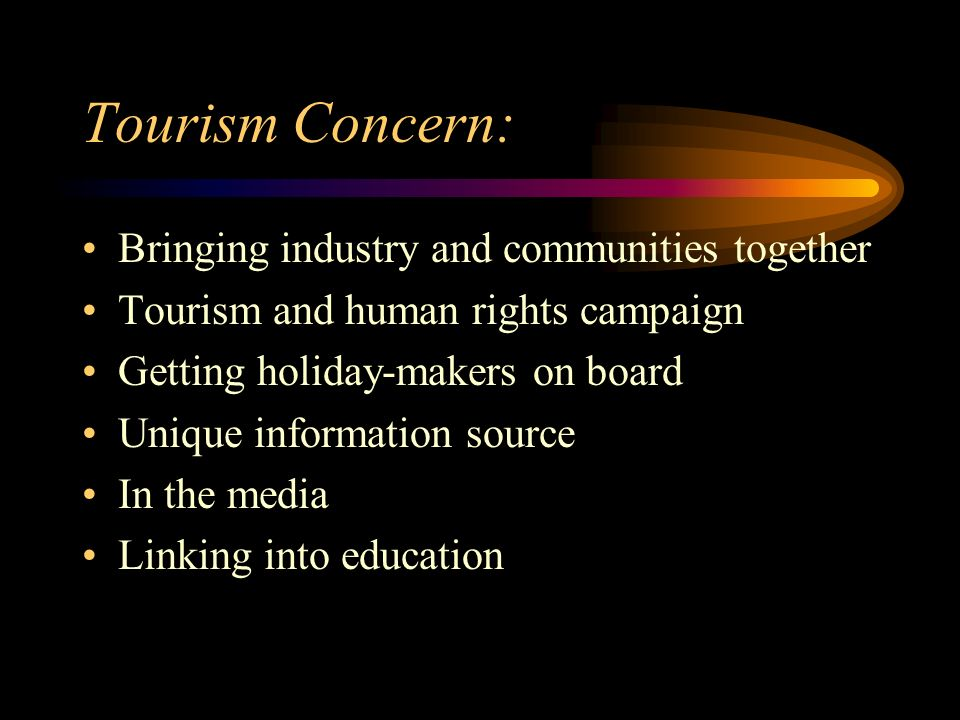 Tourism Concern: Bringing industry and communities together
