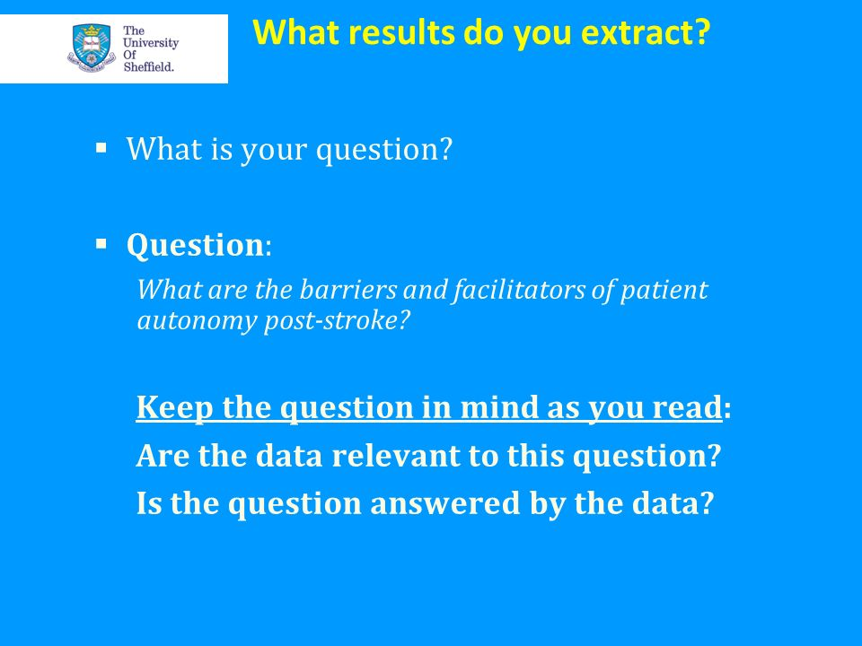 What results do you extract