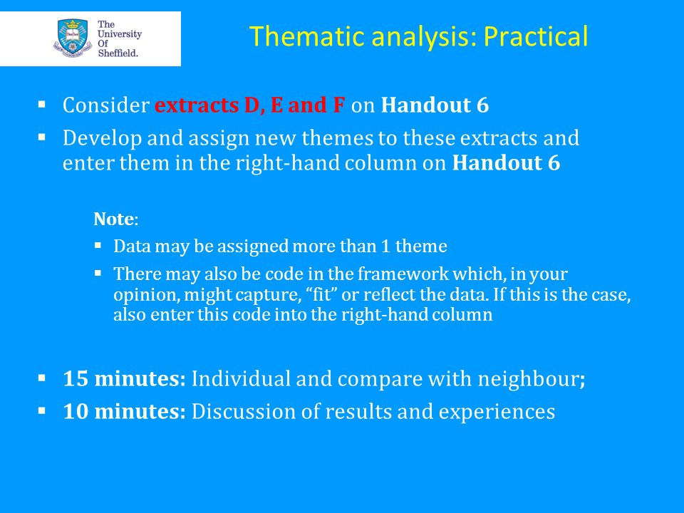 Thematic analysis: Practical