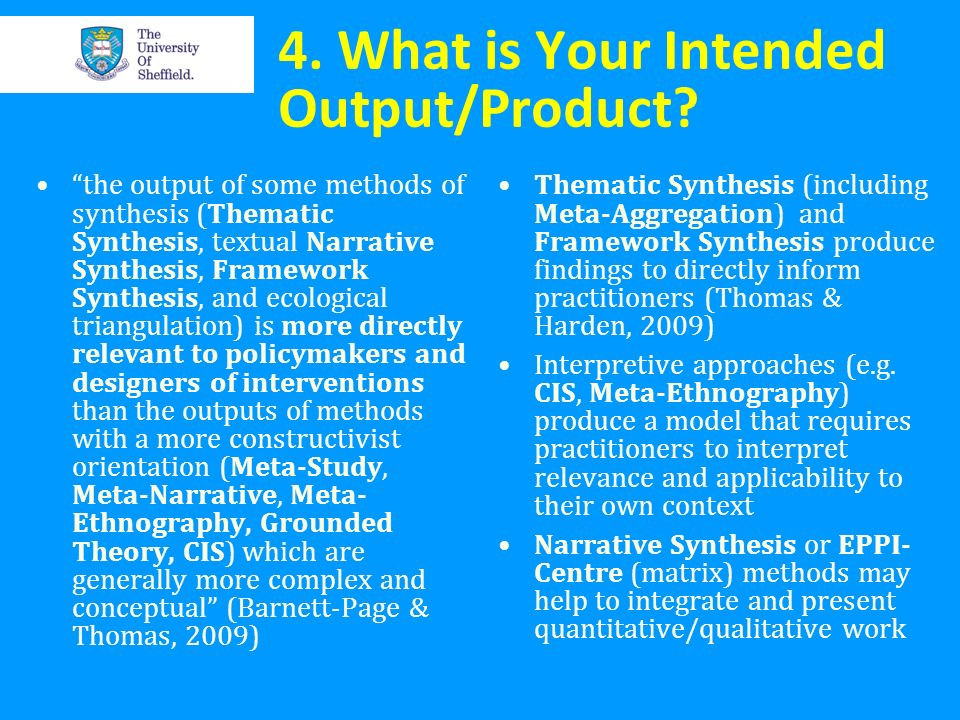 4. What is Your Intended Output/Product