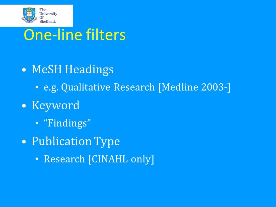 One-line filters MeSH Headings Keyword Publication Type