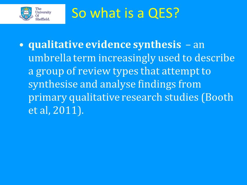 So what is a QES