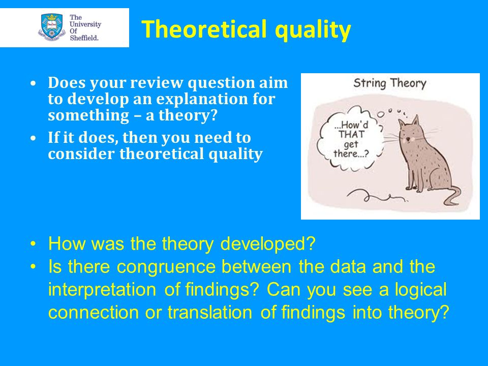 Theoretical quality How was the theory developed