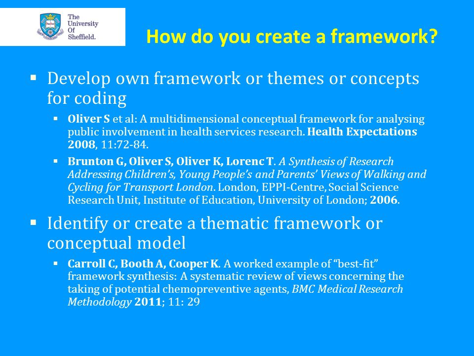 How do you create a framework