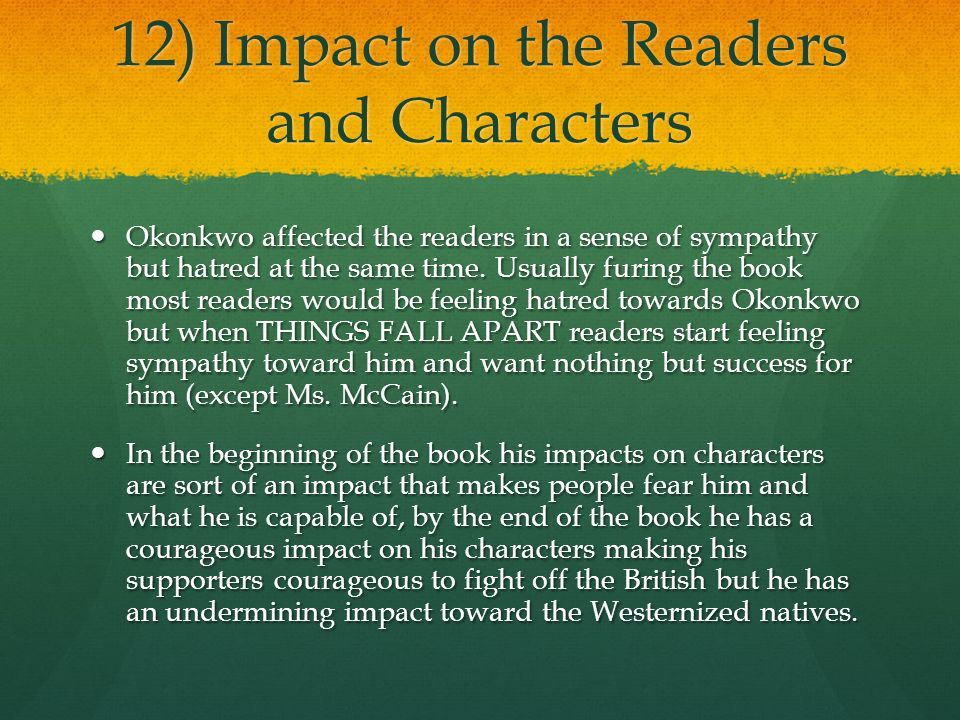 tragic character and plot in things fall apart essay There is always a flaw in the character of a tragic hero in things fall apart, okonkwo is responsible for his com/essay/okonkwo-s-downfall-things-fall-apart.