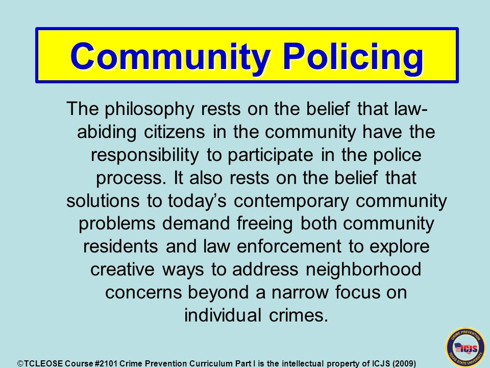 crime prevention philosophies This is a crime-prevention philosophy based on the theory that proper design and effective use of the built environment can lead to a reduction in both the fear of, and incidence of, crime.