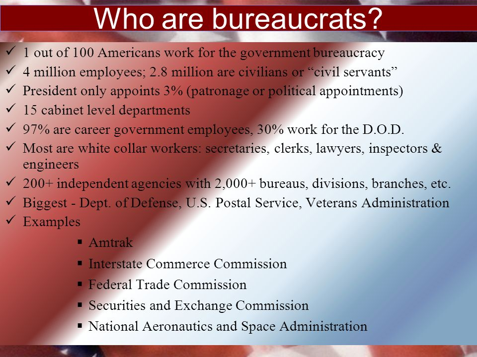 The federal bureacracy ppt download for 6 characteristics of bureaucracy