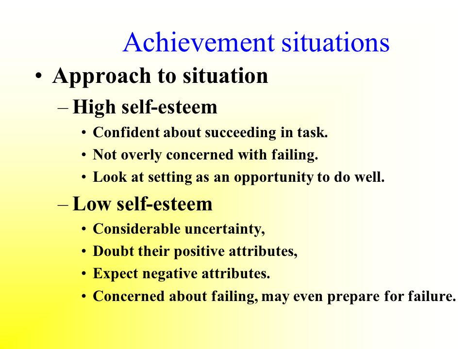 Achievement situations