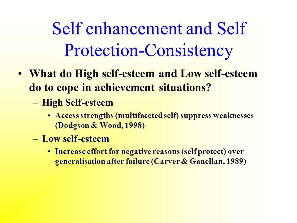 Self enhancement and Self Protection-Consistency