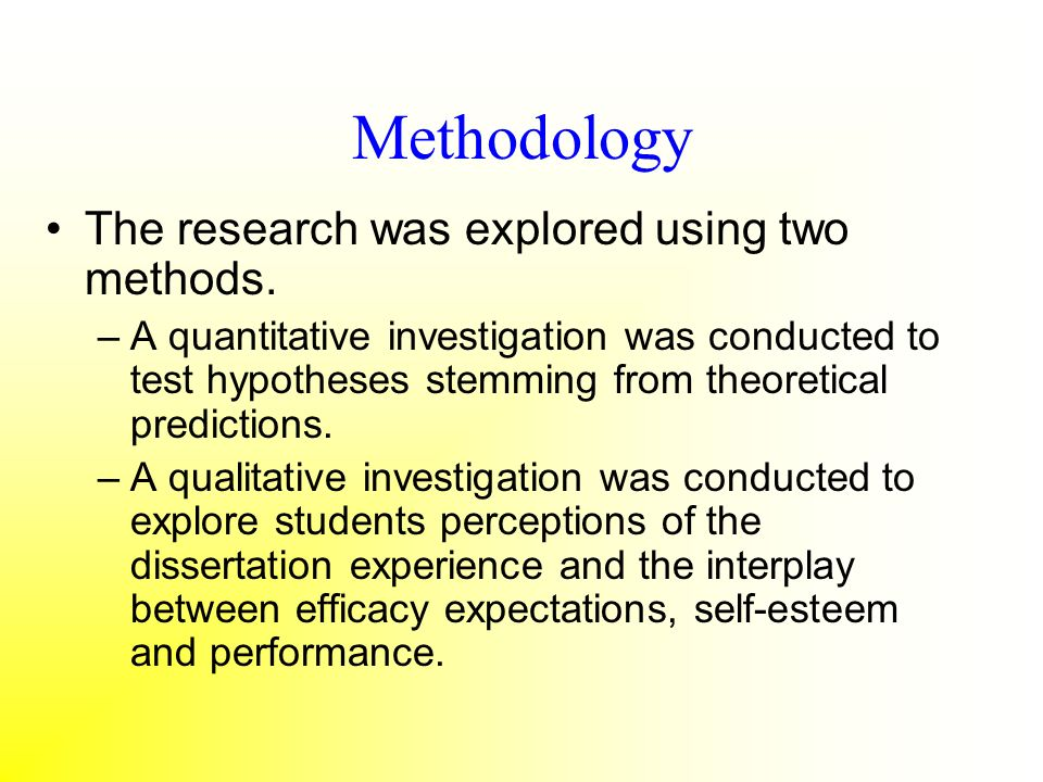 Methodology The research was explored using two methods.