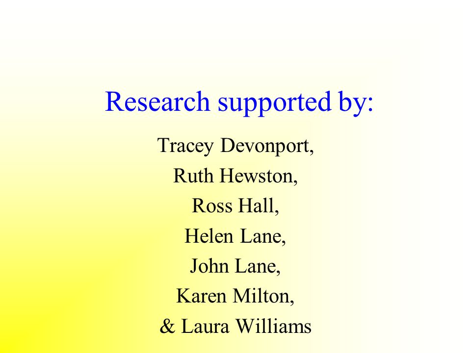 Research supported by: