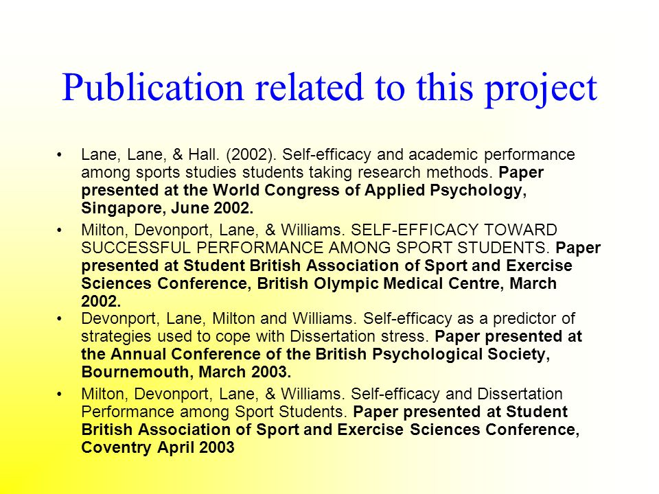 Publication related to this project