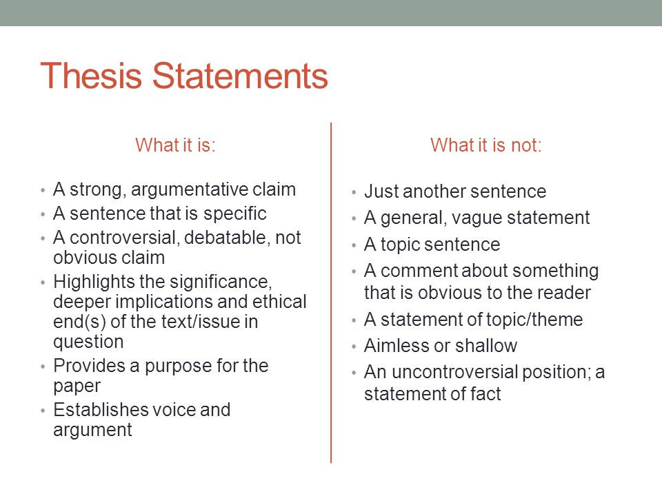 Critical essay thesis statement