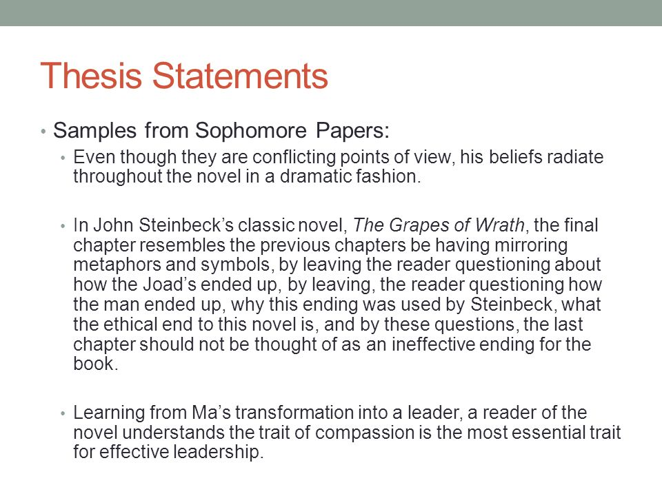 thesis statement traits
