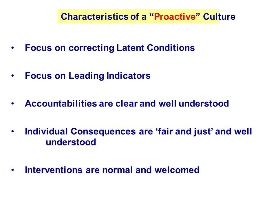 Characteristics of a Proactive Culture