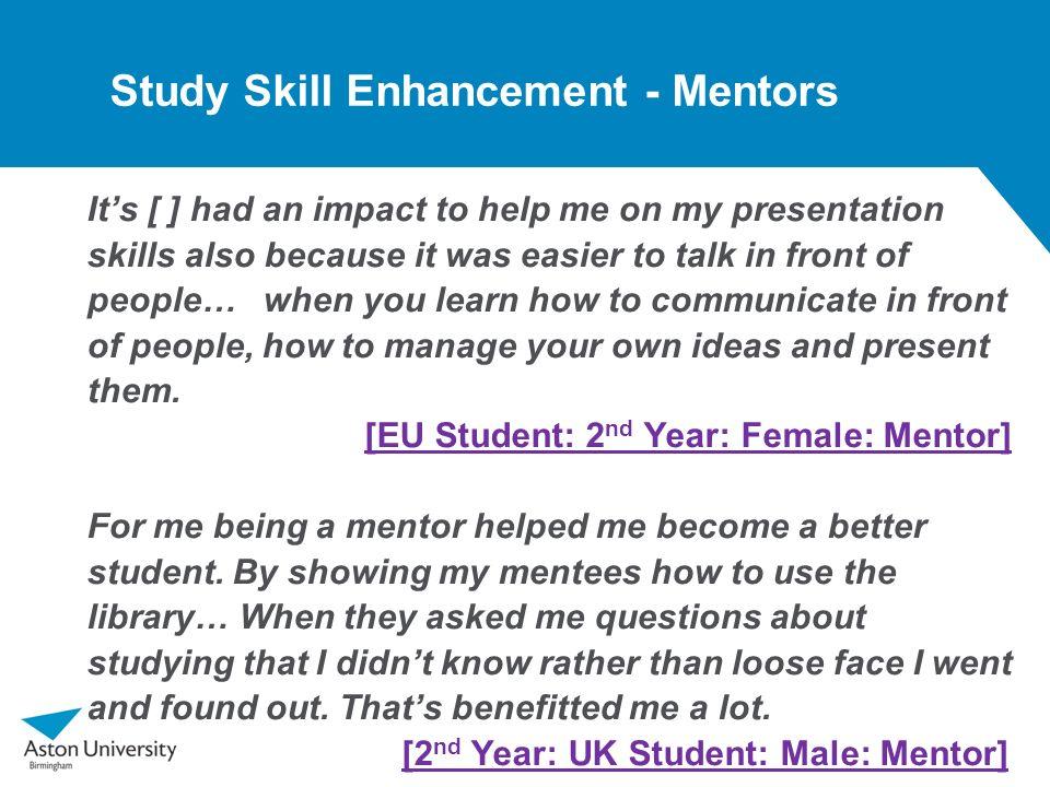 Study Skill Enhancement - Mentors