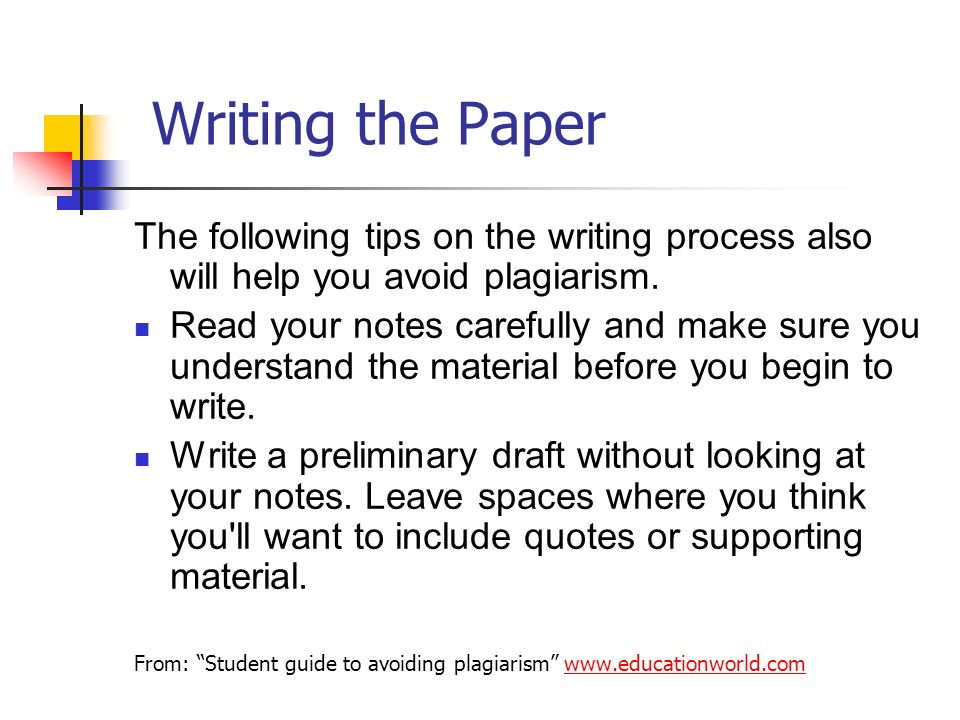 Avoid plagiarism term paper