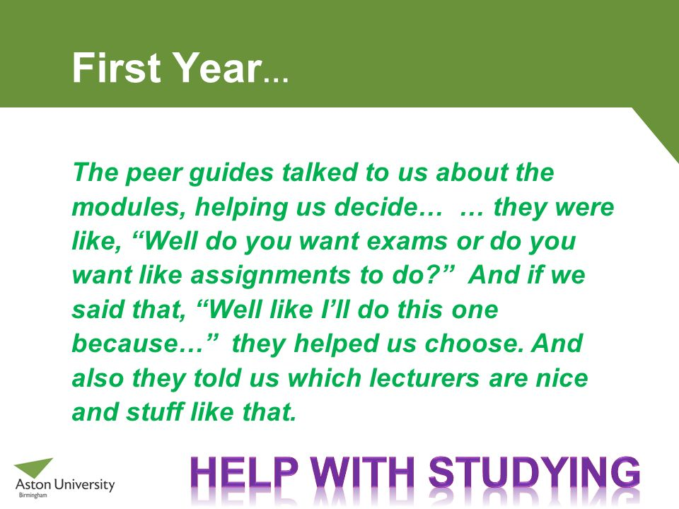First Year… Help with studying