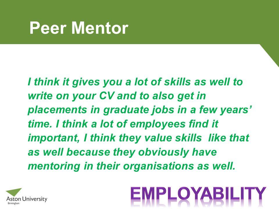 Peer Mentor Employability