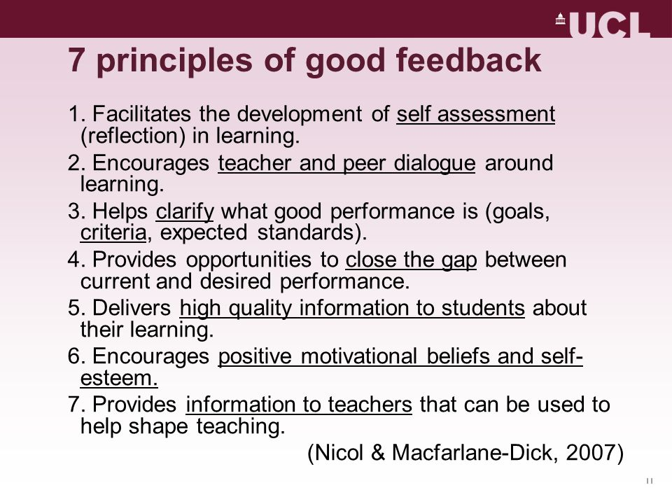 7 principles of good feedback