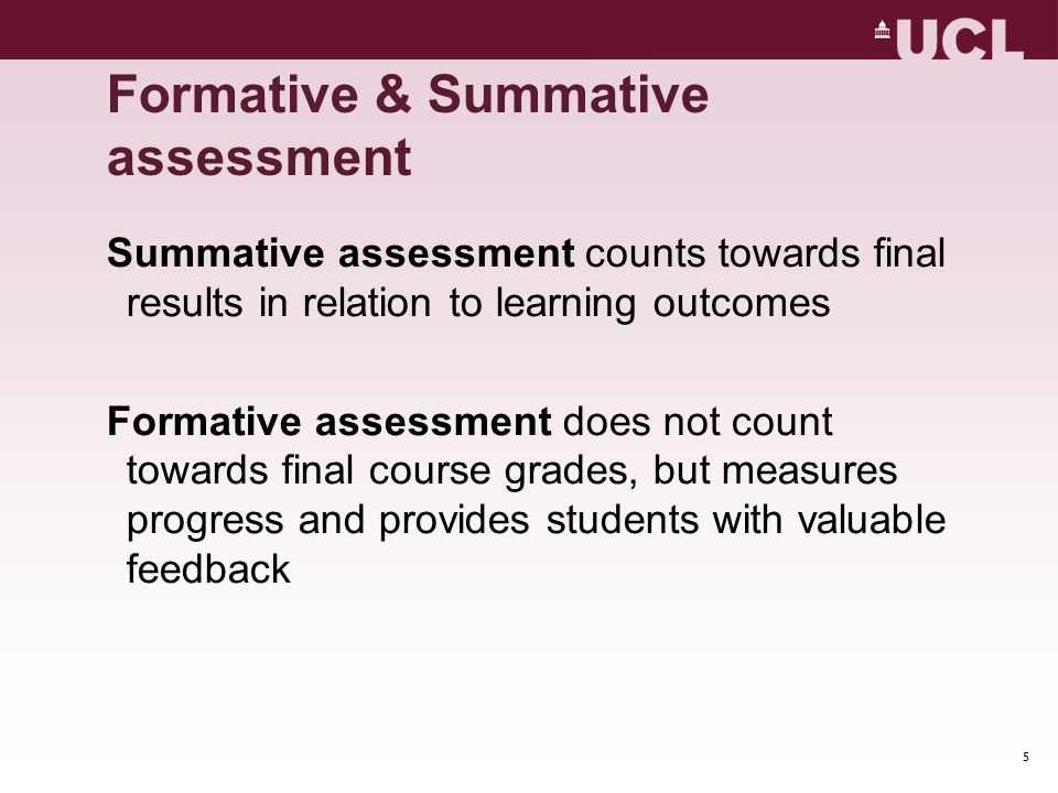 Formative & Summative assessment