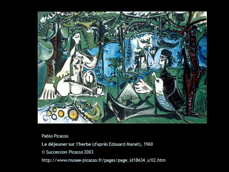 Pablo Picasso Le déjeuner sur l herbe (d après Edouard Manet), 1960. © Succession Picasso 2003.