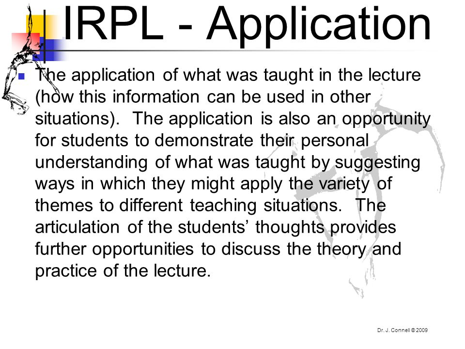 IRPL - Application