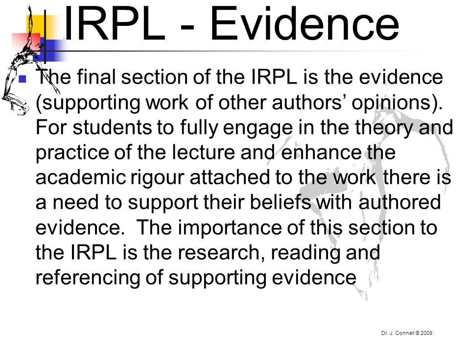 IRPL - Evidence