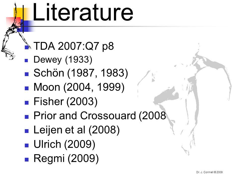 Literature TDA 2007:Q7 p8 Schön (1987, 1983) Moon (2004, 1999)