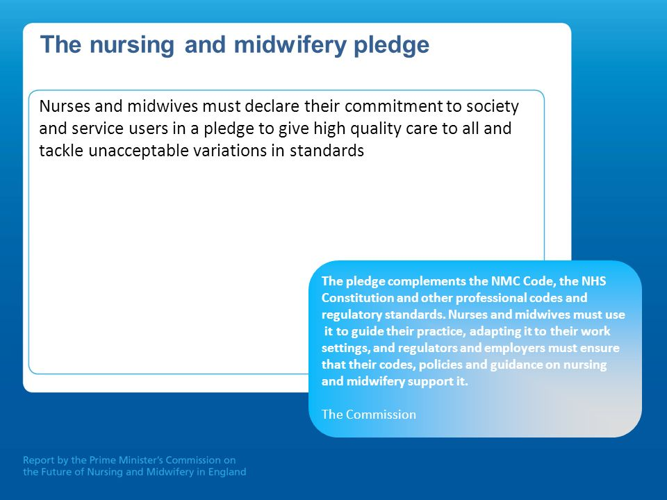 The nursing and midwifery pledge