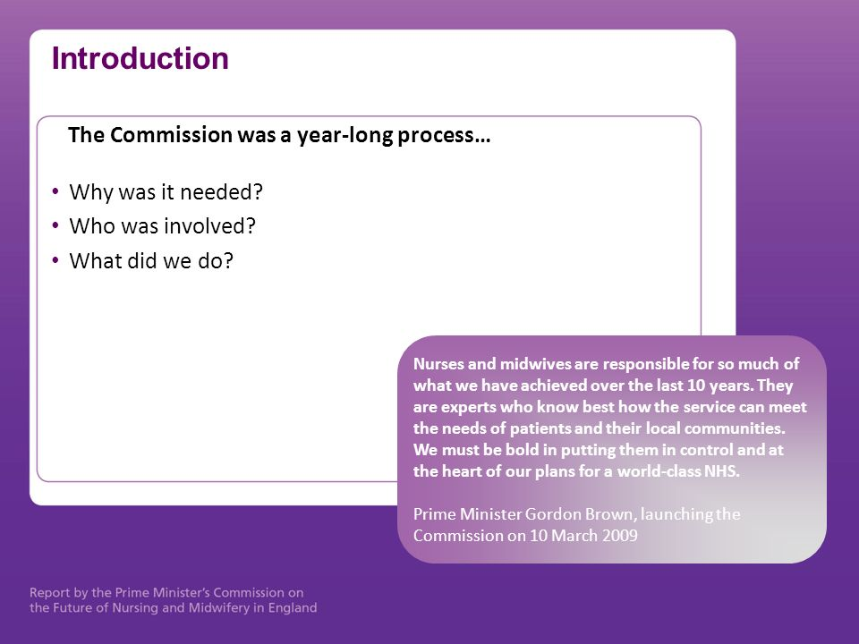 Introduction The Commission was a year-long process…
