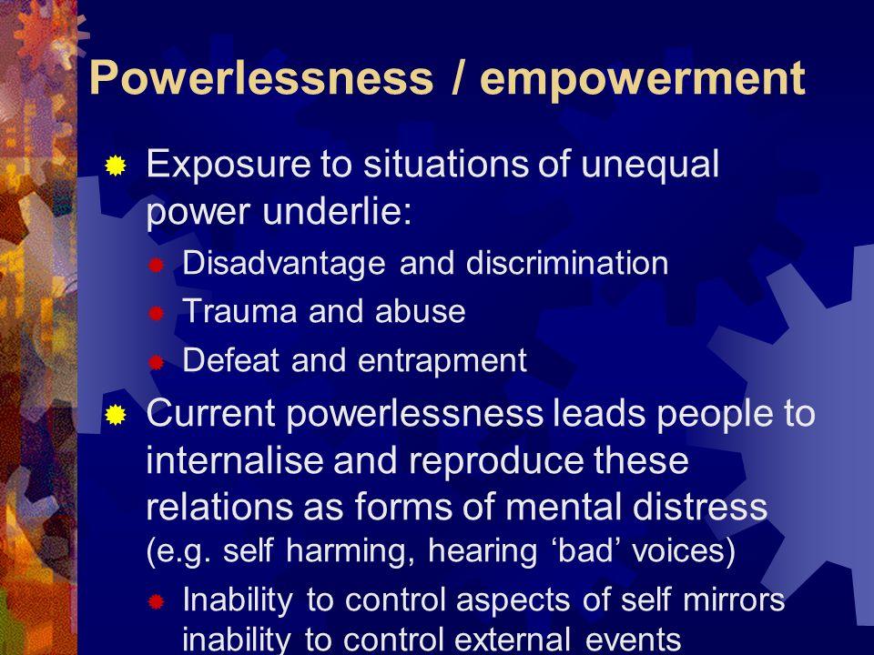 Powerlessness / empowerment