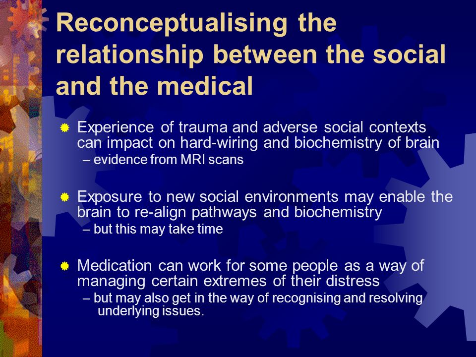 Reconceptualising the relationship between the social and the medical