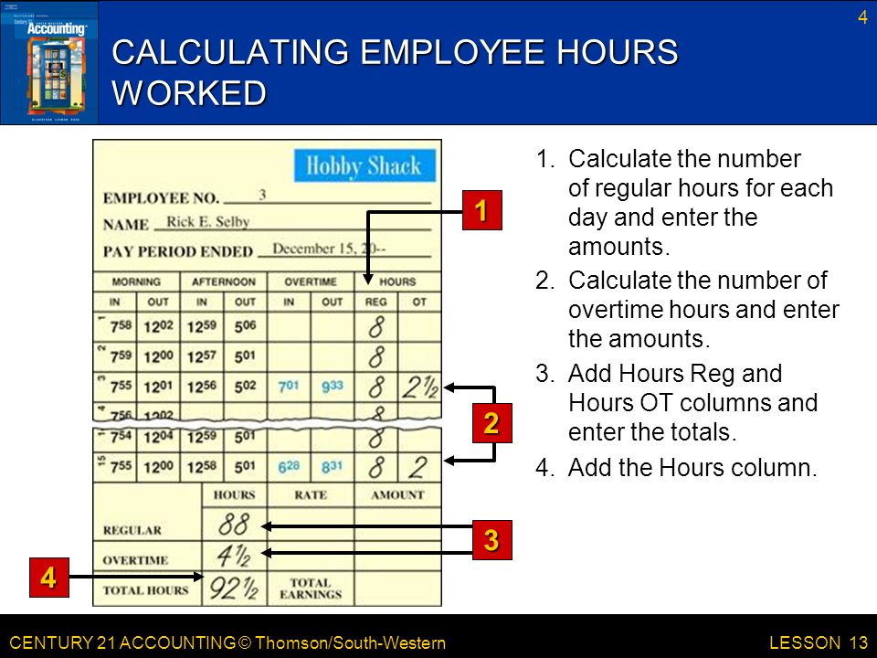 Lesson  Preparing Payroll Time Cards  Ppt Download