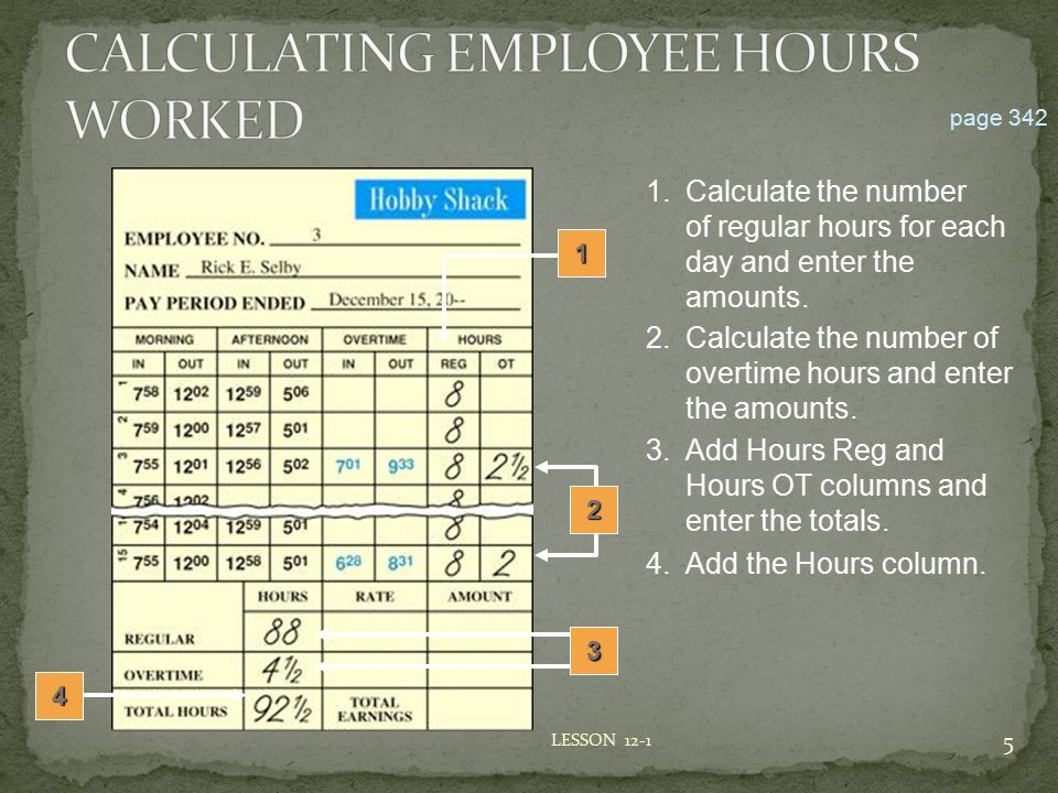 Lesson  Preparing Payroll Time Cards  Ppt Video Online Download