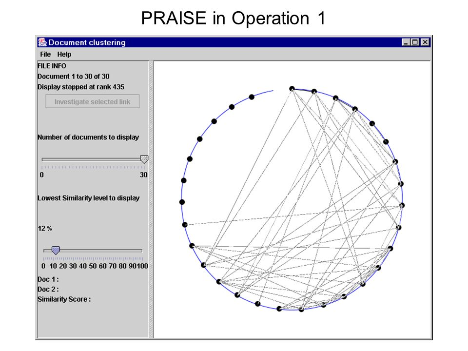 PRAISE in Operation 1