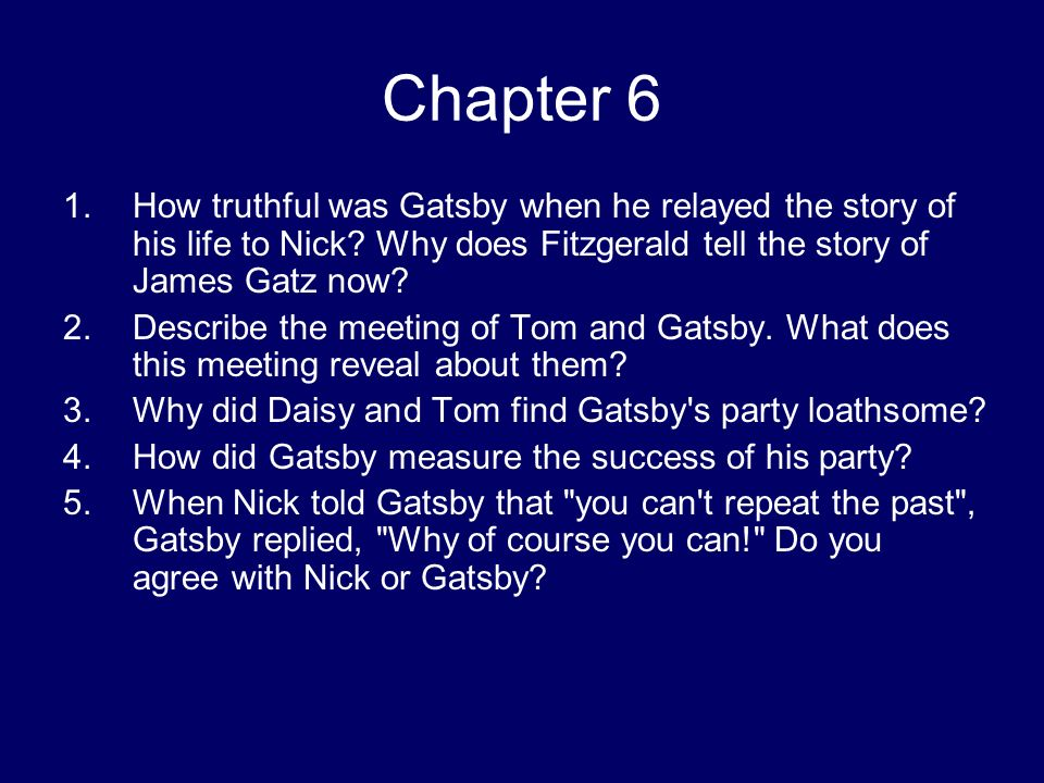 how fitzgerald tells the story in Home study guides the great gatsby the great gatsby summary jordan tells nick that tom f scott fitzgerald's greatest novel the great gatsby study guide.