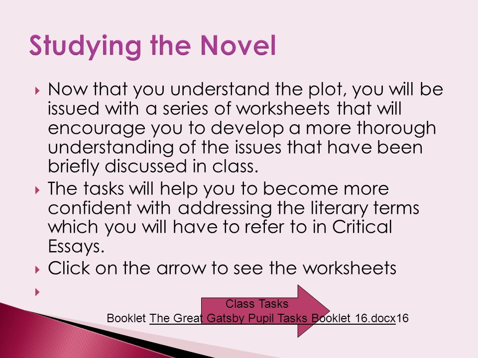Mention that this is the first cover of the book ppt video – Great Gatsby Worksheets