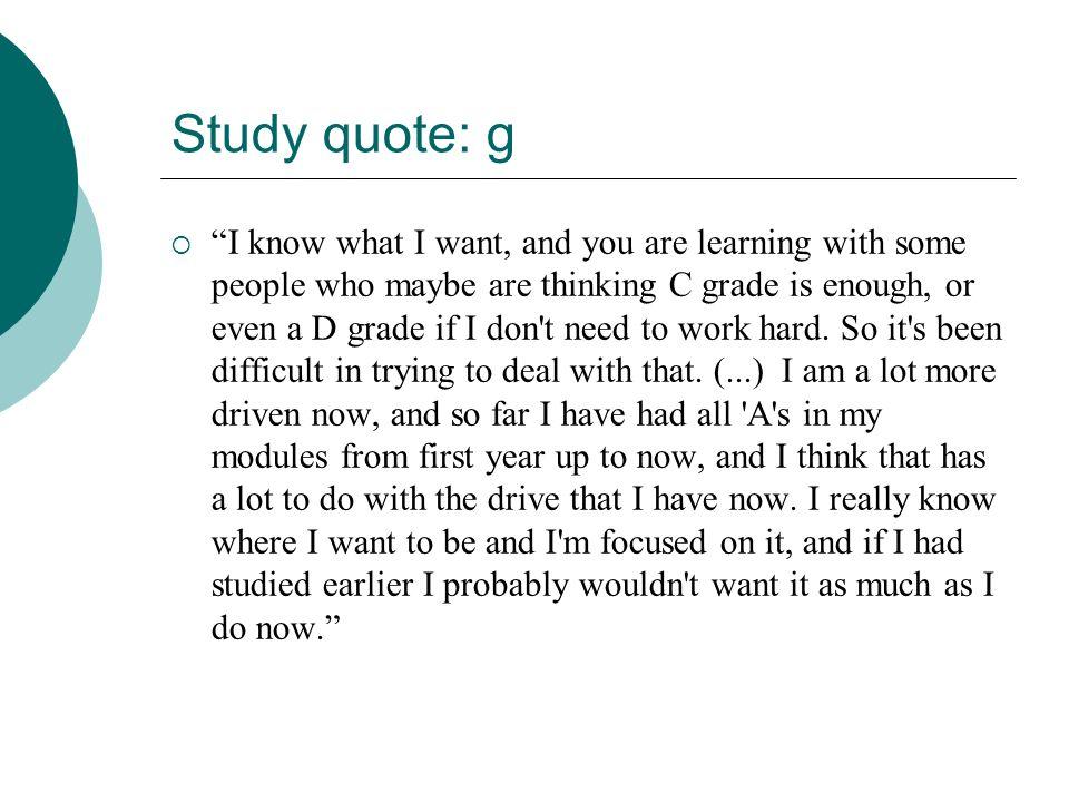 Study quote: g