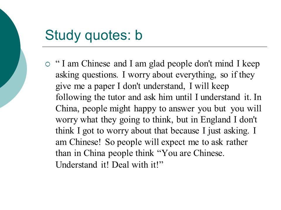Study quotes: b