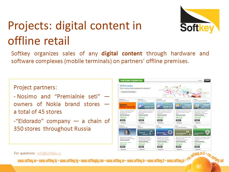 Projects: digital content in offline retail