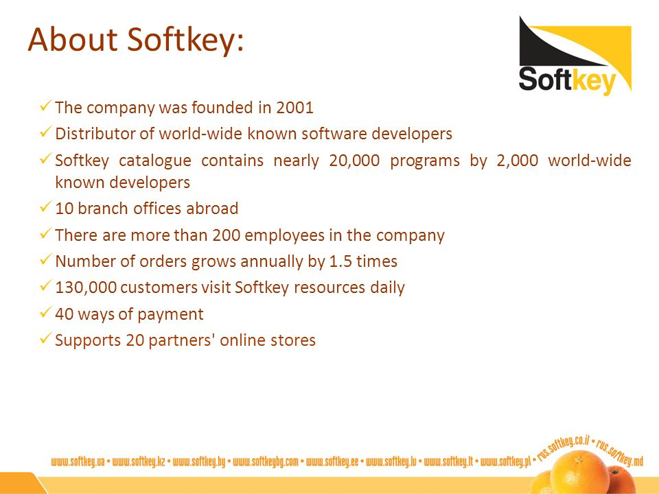 About Softkey: The company was founded in 2001