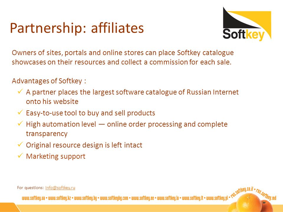 Partnership: affiliates