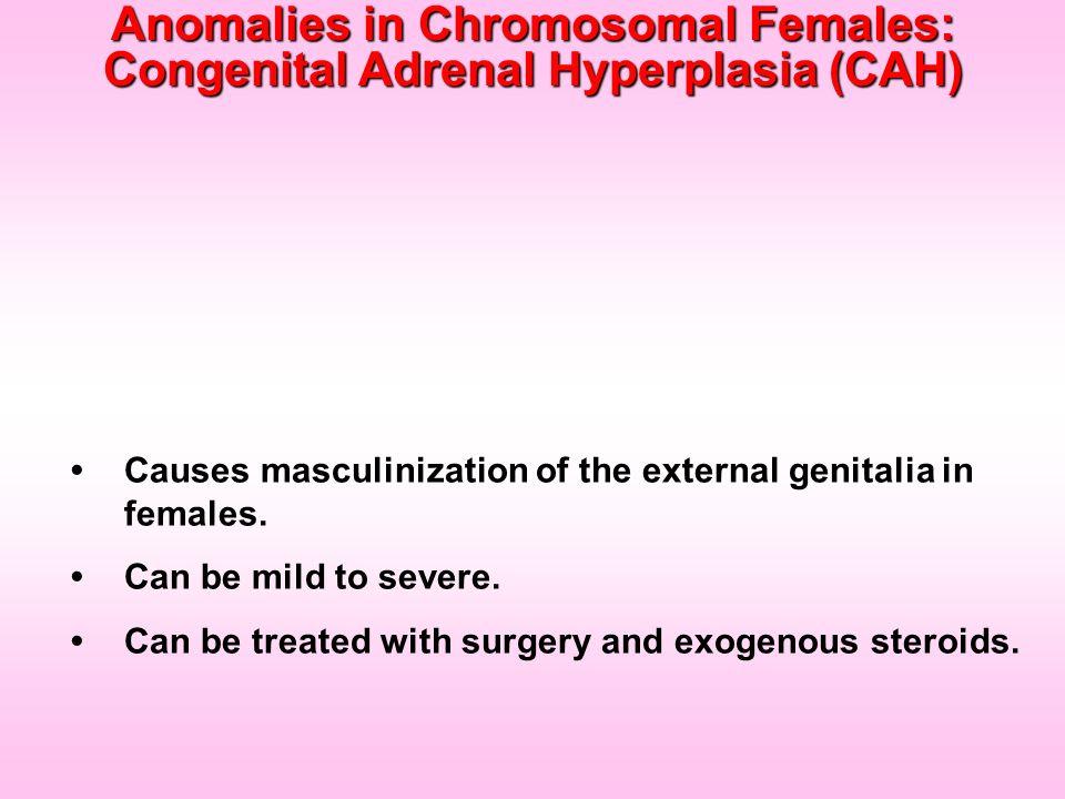 Anomalies in Chromosomal Females: Congenital Adrenal Hyperplasia (CAH)