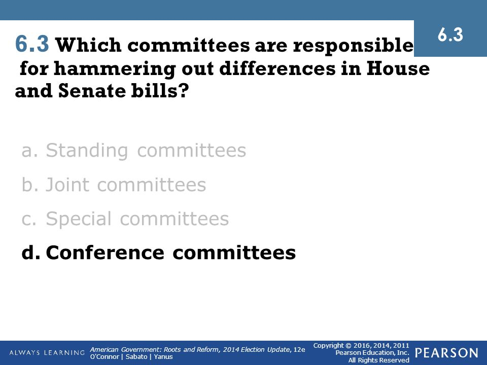 the congress and its three main functions lawmaking representation and oversight Congressional committees and the legislative process  why representation on these  fall within its jurisdiction congress has three.