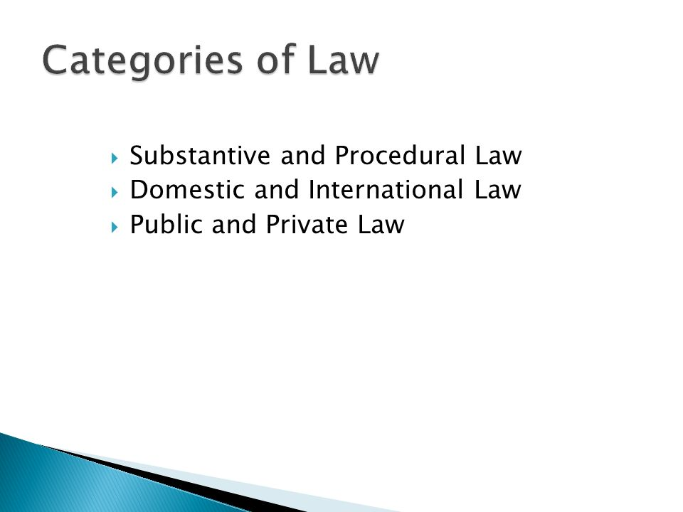 substantive and procedural law pdf